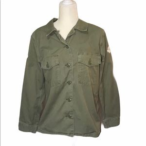 Levi's Olive Green Button Down Jacket